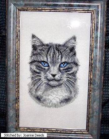 cross stitch pattern Tiger (grey tabby)