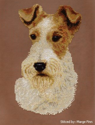 cross stitch pattern Wire Fox Terrier