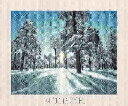 cross stitch pattern Winter