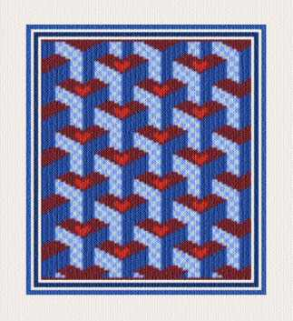 cross stitch pattern Country Abstract