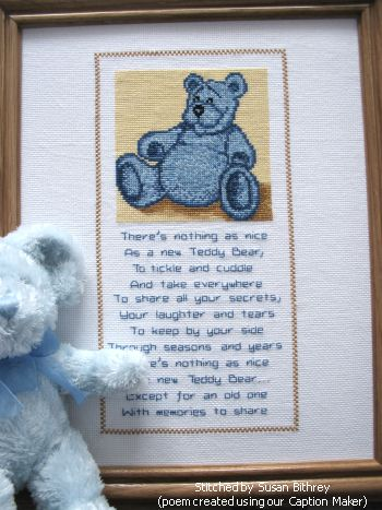 cross stitch pattern Blue Bear