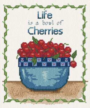 cross stitch pattern Bowl of Cherries