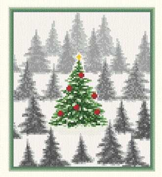 Free Printable Christmas Ornament Cross Stitch Patterns.Christmas Tree Farm