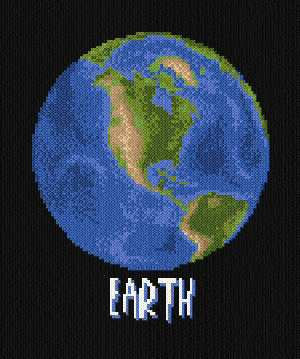 cross stitch pattern Earth