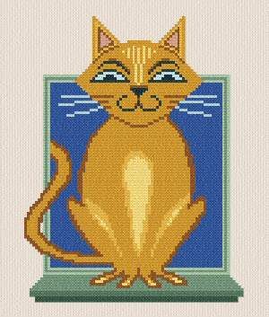 cross stitch pattern Felix