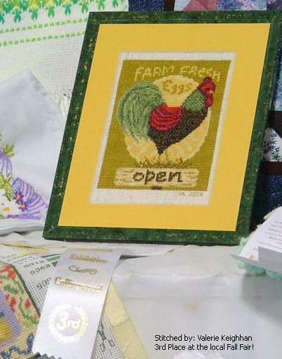 cross stitch pattern Farm Fresh Eggs