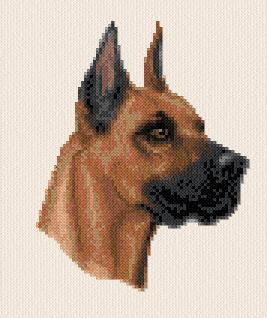 cross stitch pattern Great Dane
