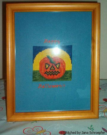 cross stitch pattern Jack-O-Lantern