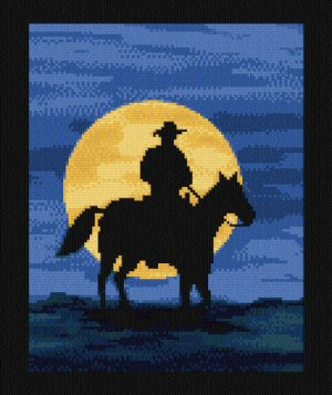 cross stitch pattern Moonlit Range