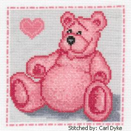 cross stitch pattern Pink Bear