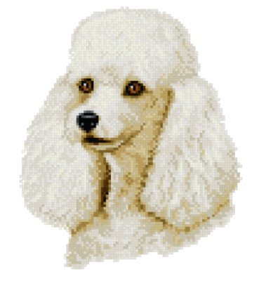 cross stitch pattern White Poodle