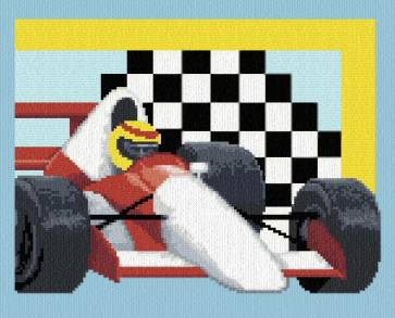 cross stitch pattern Race Car
