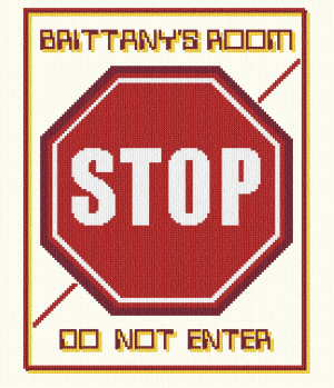 cross stitch pattern Stop Sign