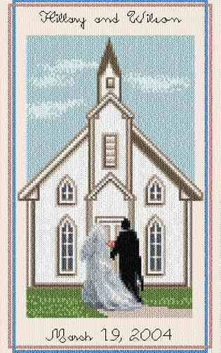 cross stitch pattern Wedding Chapel