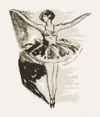 cross stitch pattern Ballerina