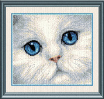 cross stitch pattern Blue Eyed Persian