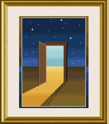 cross stitch pattern Door to Dreams