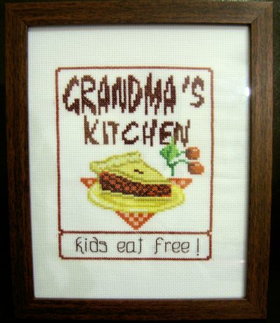 cross stitch pattern Grandma's Kitchen