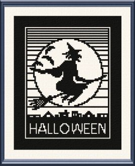 cross stitch pattern Halloween