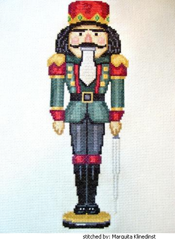cross stitch pattern James (nutcracker)