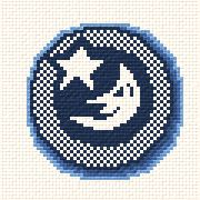 cross stitch pattern Moon and Star