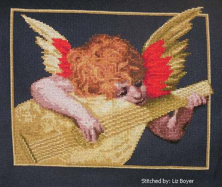 cross stitch pattern Putto Musicante