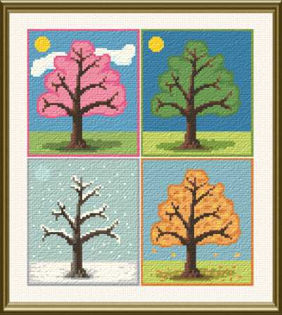 cross stitch pattern Seasons