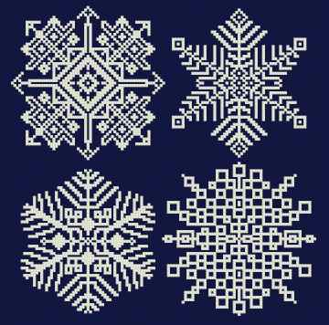 cross stitch pattern Snowflakes 5