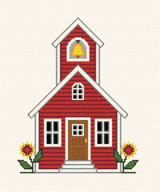 cross stitch pattern Country Chapel