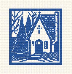 cross stitch pattern Chapel