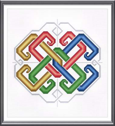 cross stitch pattern Celtic Snowflake