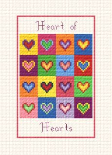 cross stitch pattern Heart of Hearts