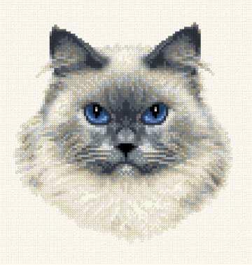 Himalayan Cross Stitch Pattern Cats