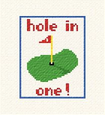 cross stitch pattern Hole in One