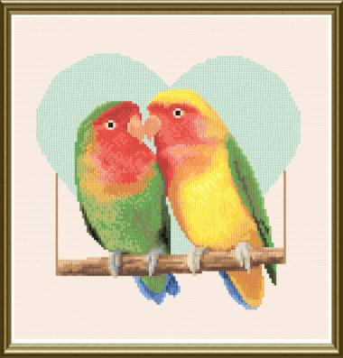 cross stitch pattern Love Birds