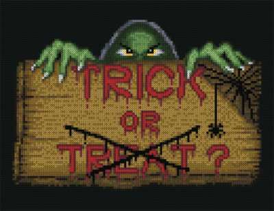 cross stitch pattern Monster