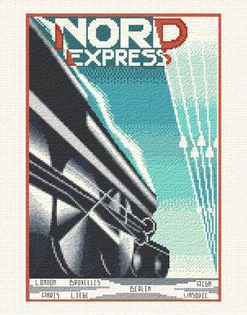 cross stitch pattern Nord Express
