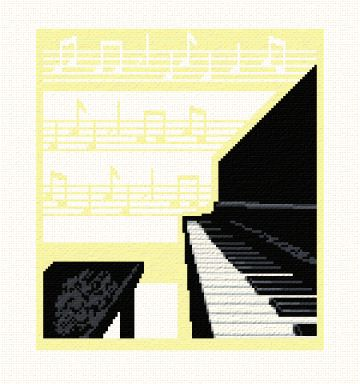cross stitch pattern Piano