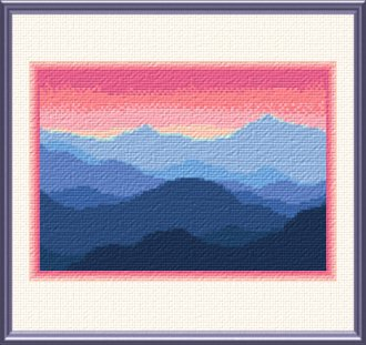 Rocky Mountains Cross Stitch Pattern Mountains