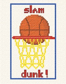cross stitch pattern Slam Dunk