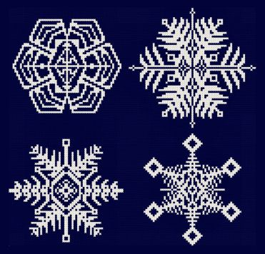 Snowflakes Santas Cross Stitch Patterns