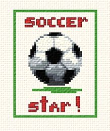 cross stitch pattern Soccer Star