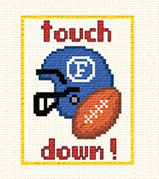 cross stitch pattern Touchdown