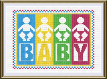 cross stitch pattern Baby