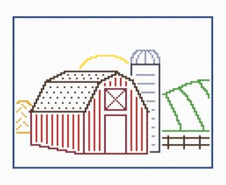 cross stitch pattern Barnyard