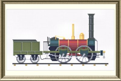 cross stitch pattern Dorchester 0-4-0 Locomotive