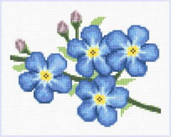 cross stitch pattern Forget Me Nots