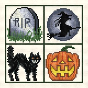 cross stitch pattern Small Halloween designs
