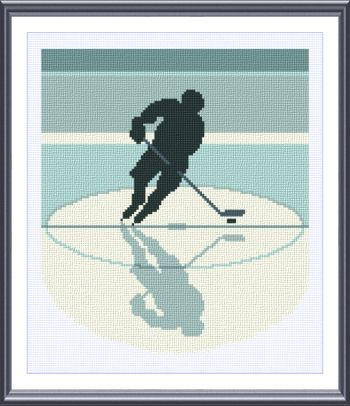 cross stitch pattern Hockey silhouette