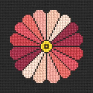 cross stitch pattern Japanese style flower